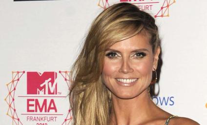 Heidi Klum on MTV EMA Red Carpet: No Bra, No Worries!
