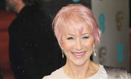 Helen Mirren Debuts Pink Hair at 2013 BAFTAs