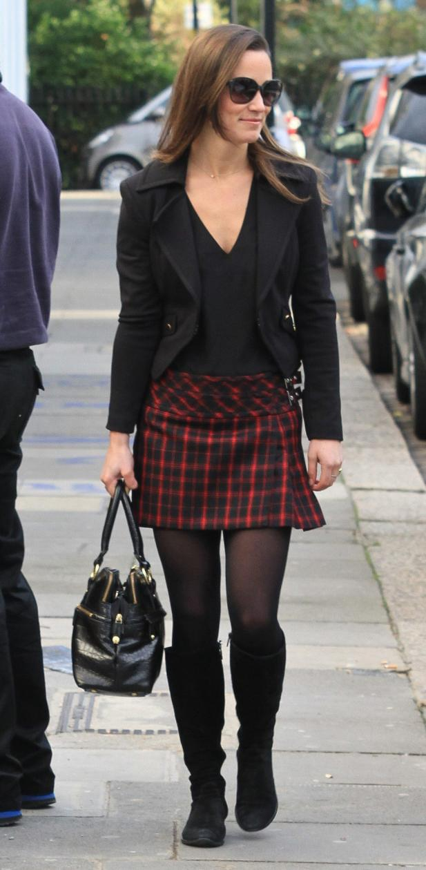 Pippa Middleton, Plaid Skirt