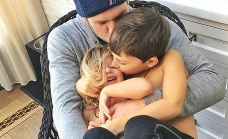Tom Brady and Kids