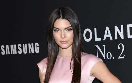 Kendall Jenner in pink dress