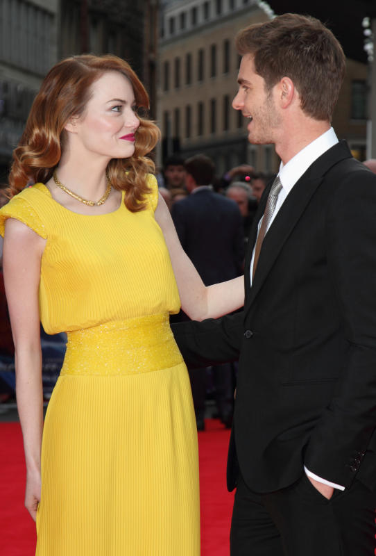 Andrew Garfield and Emma Stone Red Carpet Image