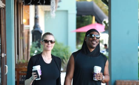 Eddie Murphy and Paige Butcher Grab Coffee in Studio City