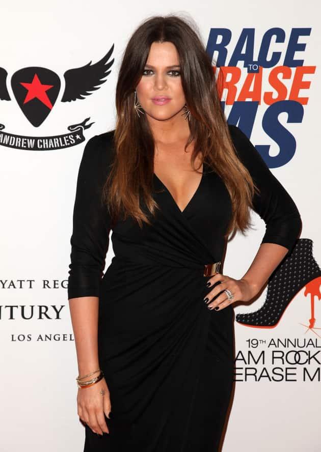 Khloe Kardashian on a Red Carpet