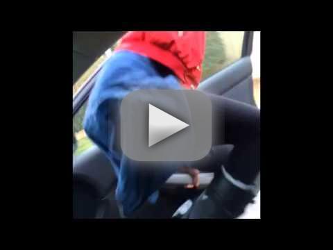 Twerking Girl Falls Out of Car