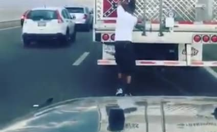 Man Yanks Confederate Flag Off Truck… in Middle of Traffic!