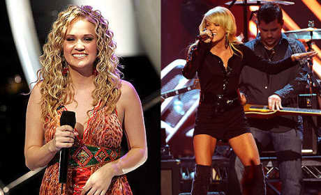 Carrie Underwood Then and Now