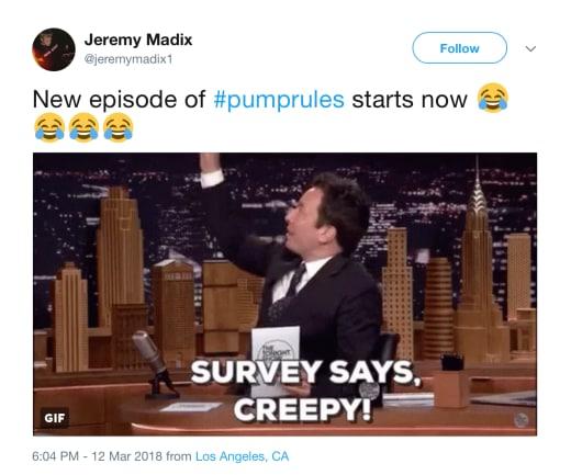 Jeremy Madix Tweet