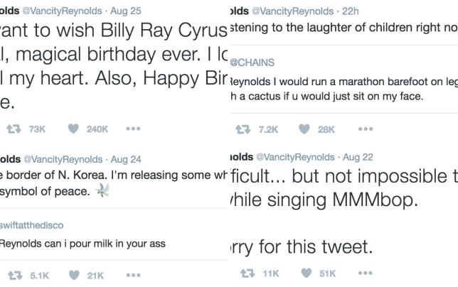 Ryan reynolds wishes billy ray cyrus happy birthday