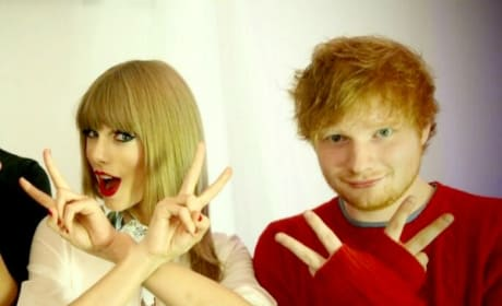 Taylor Swift and Ed Sheeran on Instagram