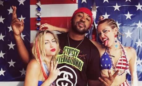 Miley Cyrus on July Fourth