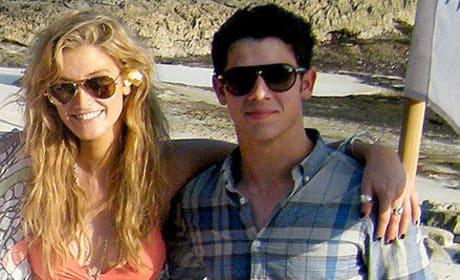 Delta Goodrem and Nick Jonas in Bali