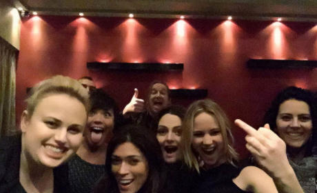 Rebel Wilson and Jennifer Lawrence at a Party