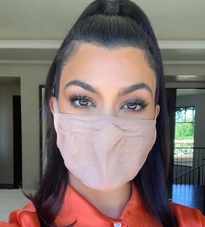 Kourtney in a Mask