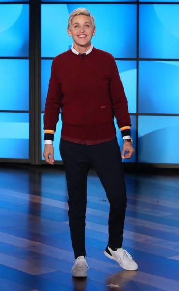Ellen en el set