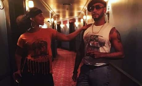 Alicia Keys & Swizz Beatz Attend Beyonce's 35th Birthday Bash