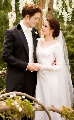 Edward and Bella Wedding Day Pic