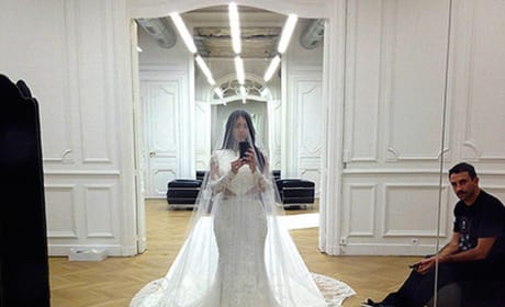 Kim Kardashian Wedding Dress Selfie