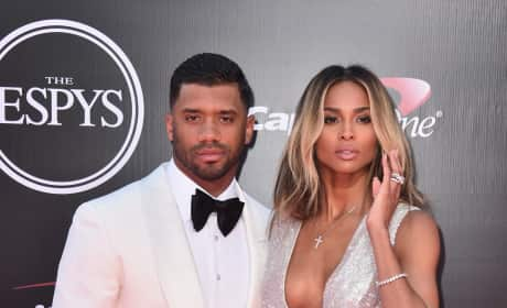 Ciara and Russell Wilson at the ESPYs