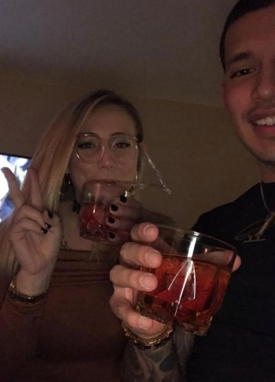 Javi Marroquin and Cassie Bucka Partying Photo