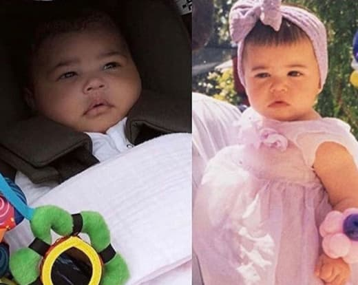 Kylie Jenner and Stormi Webster, Side-By-Side Baby Pics 02