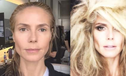 Heidi Klum Shares Before-and-After Makeup Photos: See the Transformation!