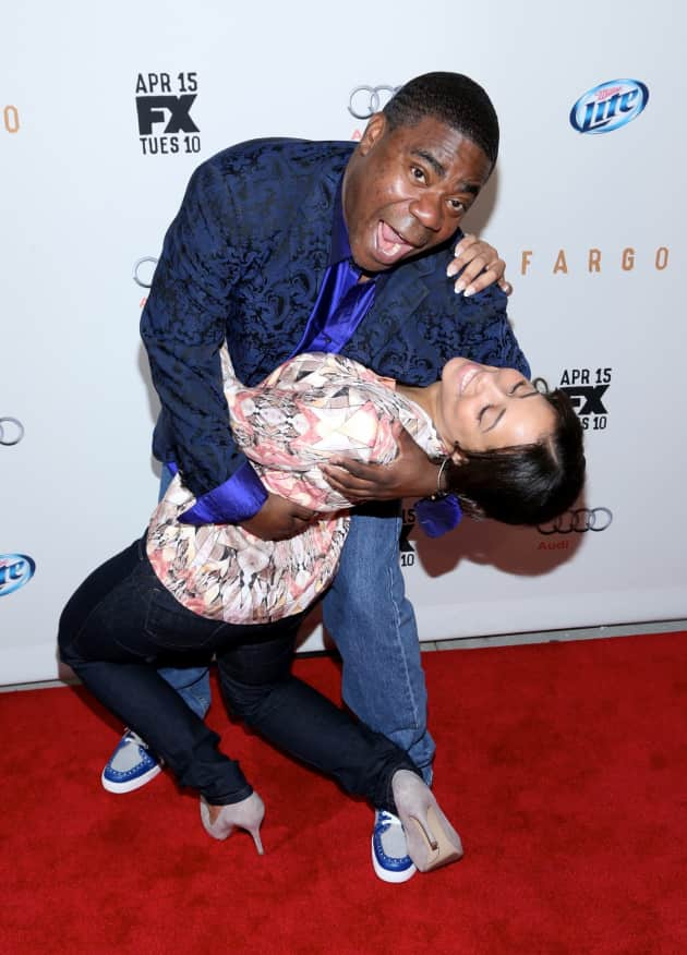 Tracy Morgan with Megan Wollover
