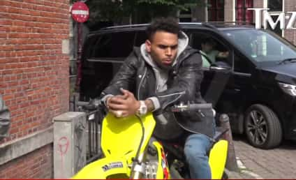 Chris Brown SUPER Stoned, Stopped By Cops in Amsterdam!