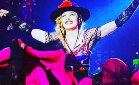 Madonna Exposes Fan's Boob During Concert