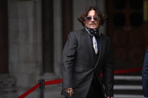 Johnny Depp at Court
