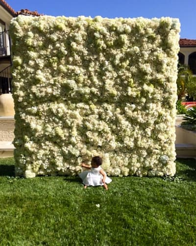 North West and Flowers