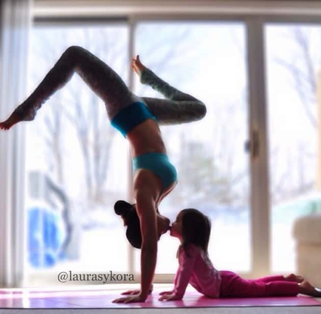 Laura Kasperzak and Daughter