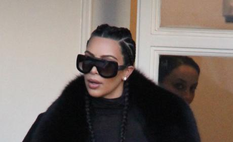 Kim Kardashian leaves plastic surgery center
