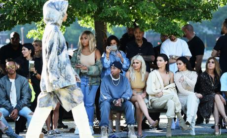 Kardashians At Yeezy Season 4 Fashion Show