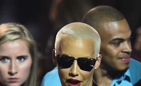 Amber Rose with a Cigarette
