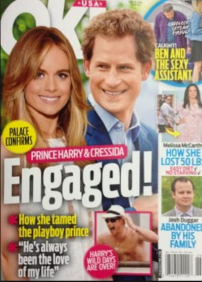 Prince Harry Engagement Claim