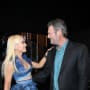 Gwen Stefani in Blue with Blake Shelton