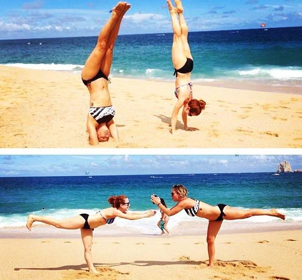 Kaley Cuoco: Beach Yoga