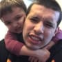 Javi Marroquin with Son