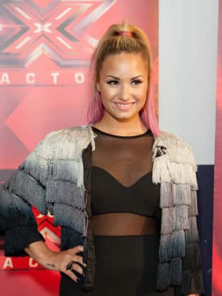 Demi Lovato X Factor Audition Photo