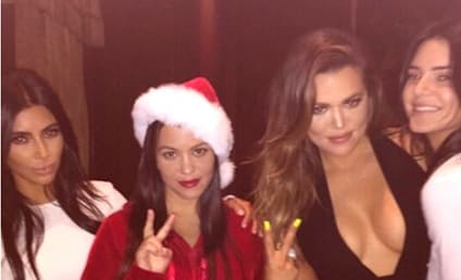 Kardashians Shows Off Cleavage, Wear Pajamas, Celebrate Christmas