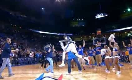 Thunder Fan Nails $20,000 Halfcourt Shot, Gets Tackled by Kevin Durant