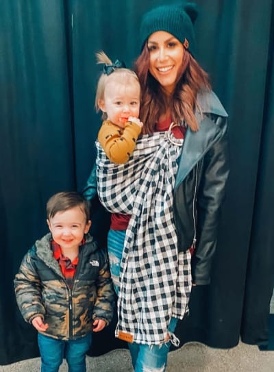 Chelsea Houska With Son and Daughter