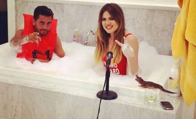 Khloe and Scott in the Bath