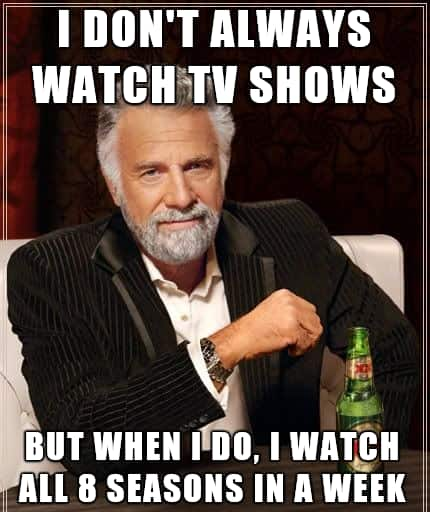 Binge Watching TV