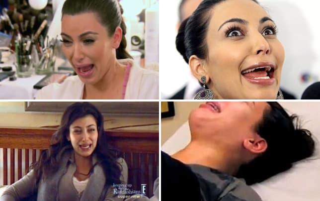 Kim kardashian krying