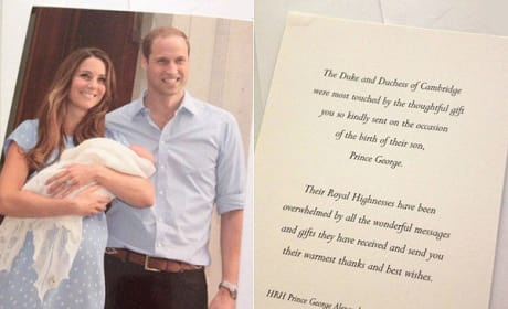Prince William, Kate Middleton Thank You Note