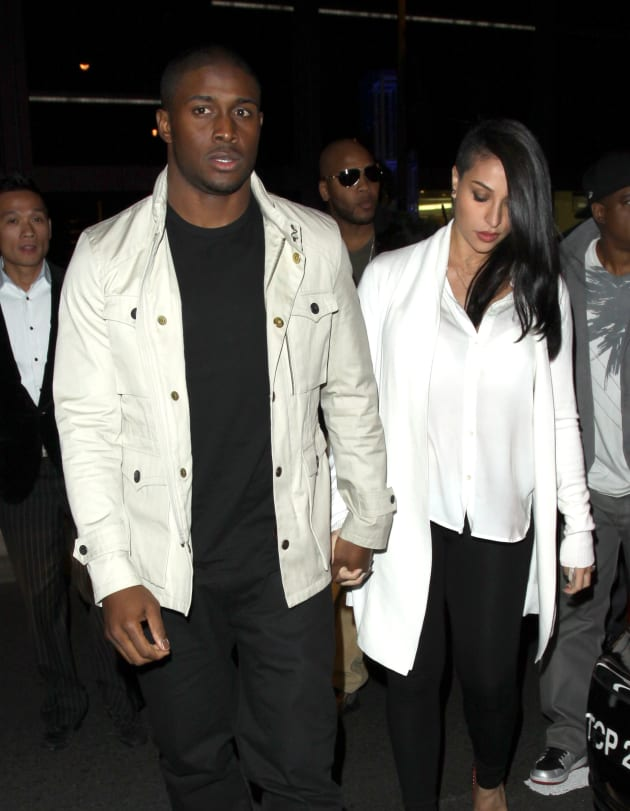 Lilit Avagyan with Reggie Bush