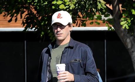 Jon Hamm Grabs A Cup of Coffee
