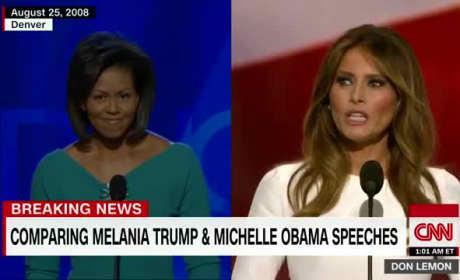 Michelle Obama & Melania Trump Speech Comparison